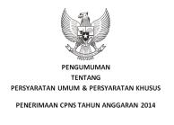 Persyaratan Umum dan Khusus CPNS 2014